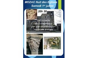 Nuit des églises à Mozac le 1er juillet