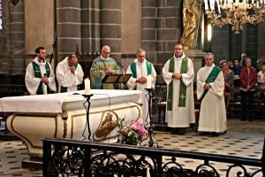 "Installation des prêtres ""in solidum"" à Riom le 24 sept. 2017"