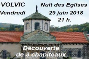 Nuit des églises à Volvic le 29 juin