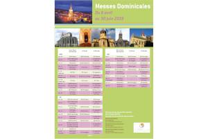 Messes dominicales du 6 avril au 30 juin