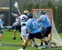 Going to net, Conor Doyle registered his third consecutive hat trick.