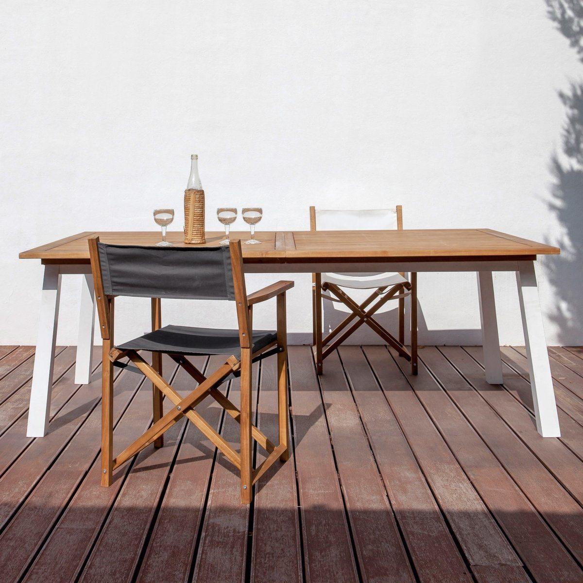 Table De Jardin A Rallonges Loft Kettler | Table De Jardin En Bois ...