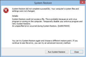 CHKDSK system restore