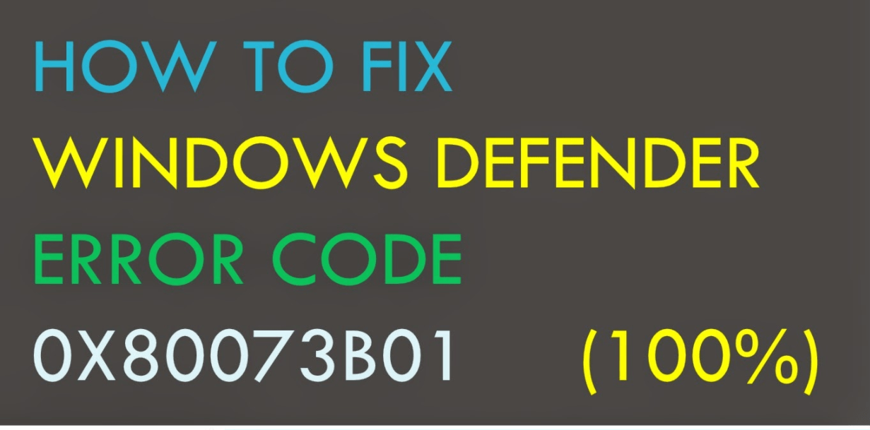 Windows Defender error code 0X800740EC