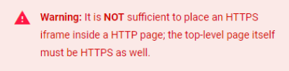 Chrome's security error
