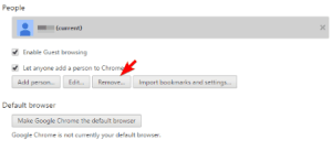 Chrome User profile