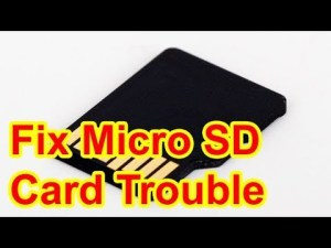 Micro SD card not recognized