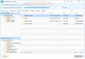 Shift + Delete EaseUS file recovery