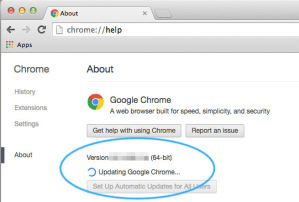 Update Google Chrome to resolve Profile Error Occurred