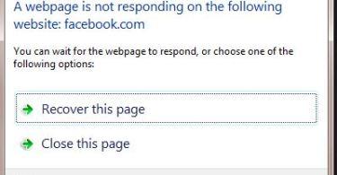 Webpage not responding