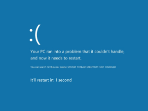 bsod System Thread Exception Not Handled Error