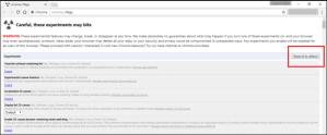Chrome flag settings re-configure