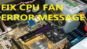 cpu fan not spinning