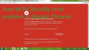 How to fix Chrome's security error