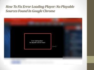 Error Loading Player