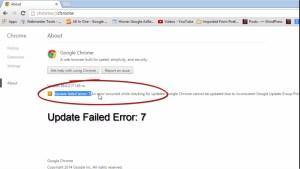 Fix chrome update error