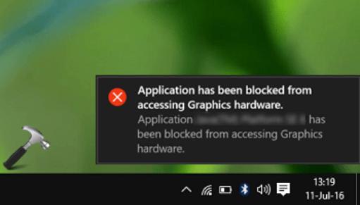 Hardware Graphics Compatibility Error