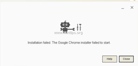 Chrome Installation Failure