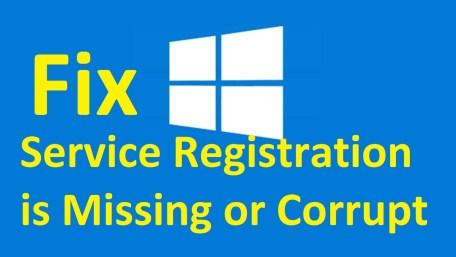 Service Registration Corrupt