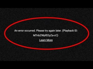 playback id error youtube pc