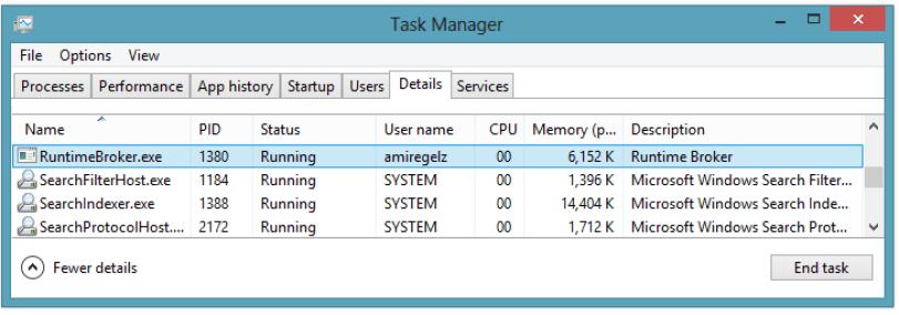 Fix RuntimeBroker.exe