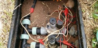 Home irrigation popup sprinkler