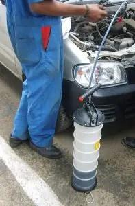 dipstick oil change pump