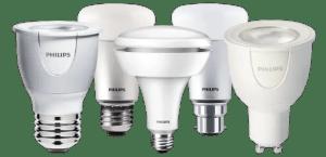 Philips hue range lighting A19, BR30, GU10, MR16