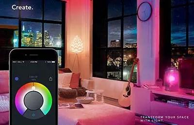 lifx lounge room pink app control