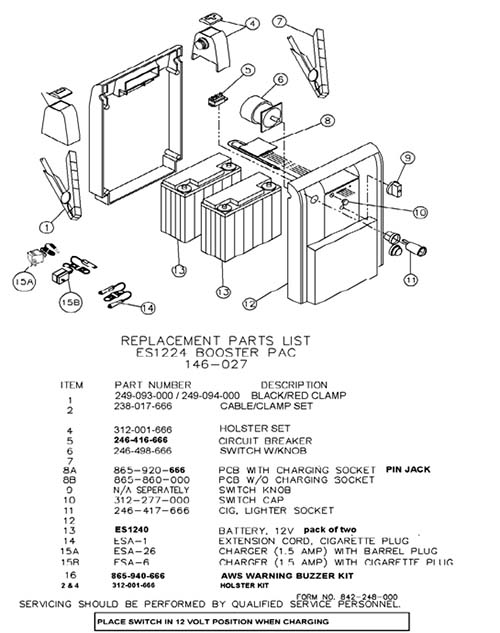 es1224 battery replacement procedure