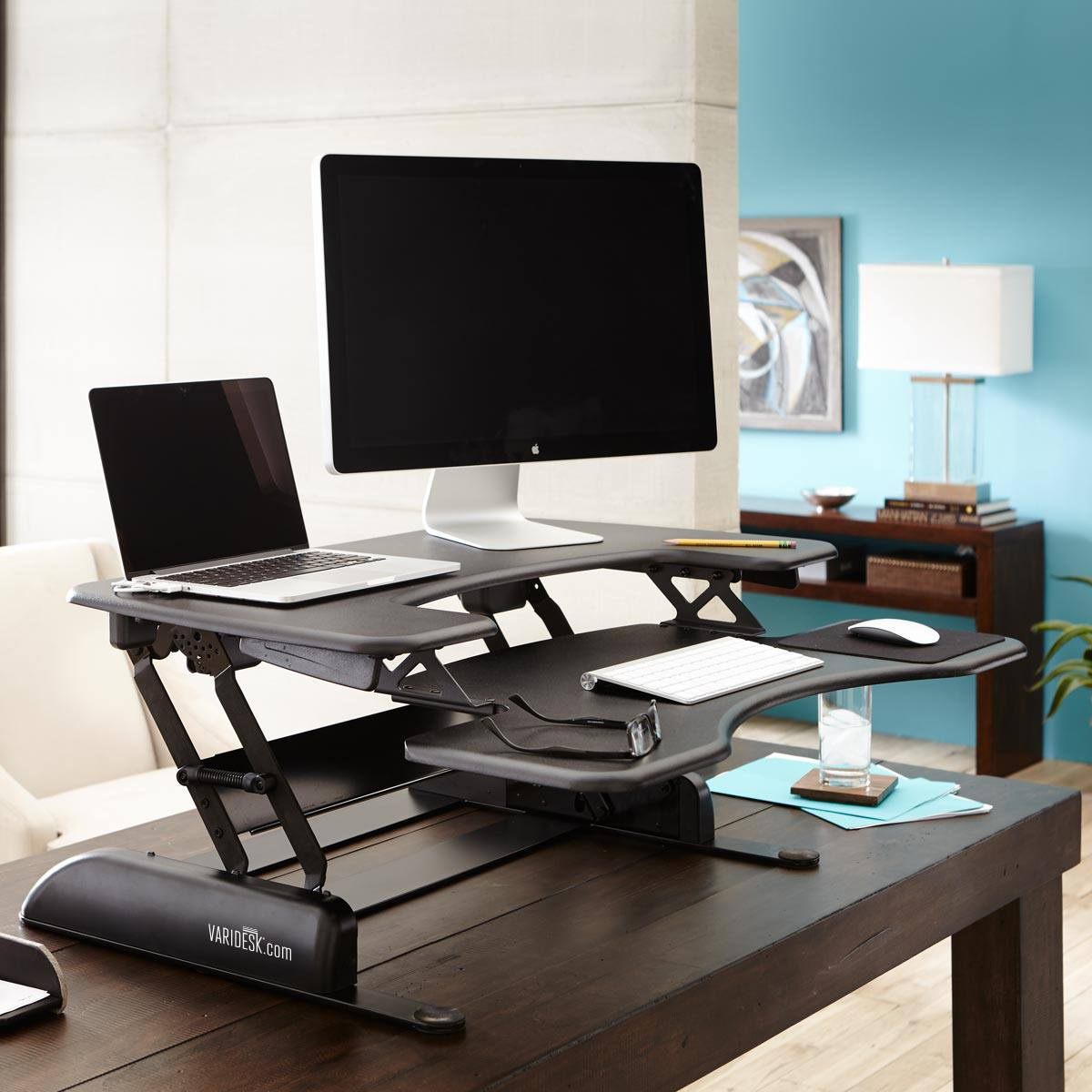 chair stand up trick folding table chairs dunelm varidesk is expensive they worth it well that depends 4 models reviewed