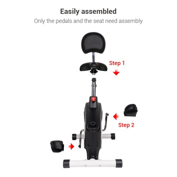Loctek U2 Fitness Bike Height Adjustments