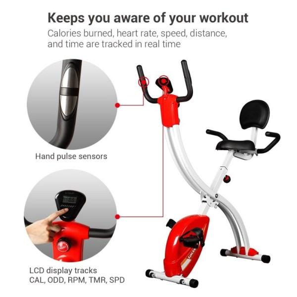 Loctek F1MR Fitness Magnetic Laptop Bike with Tabletop Design - Smart Workout