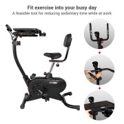 Loctek UF4M Fitness Magnetic Laptop Bike - Smart Exercise