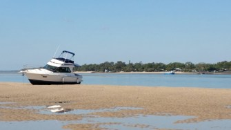 Waiting for the tide, Burrum Heads in the background