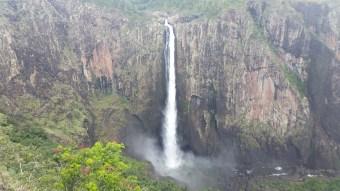 Wallaman Falls, Australia's largest single drop fall at 268m.