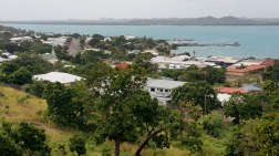 Thursday Island with Horn Island in the background.