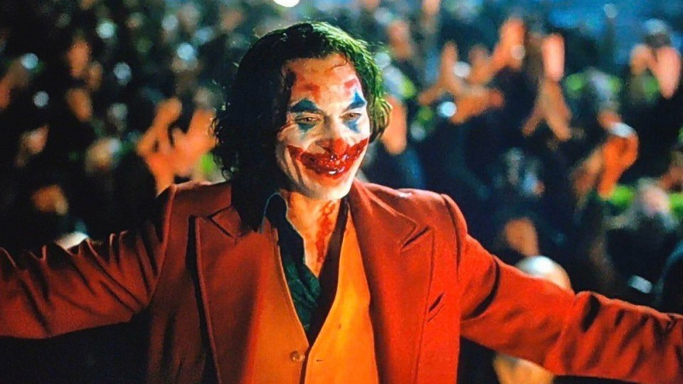 Joaquin Phoenix as the Joker in 2019