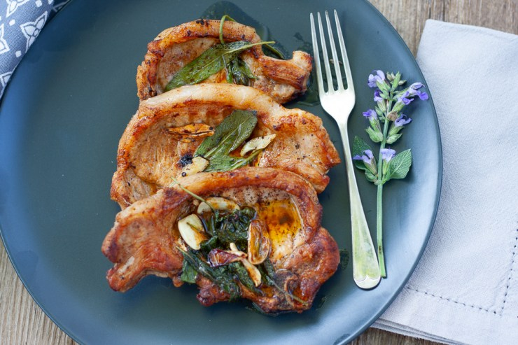 sage butter pork chops