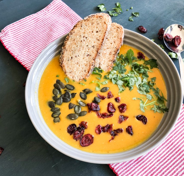 Easy  butternut and red lentil curry soup
