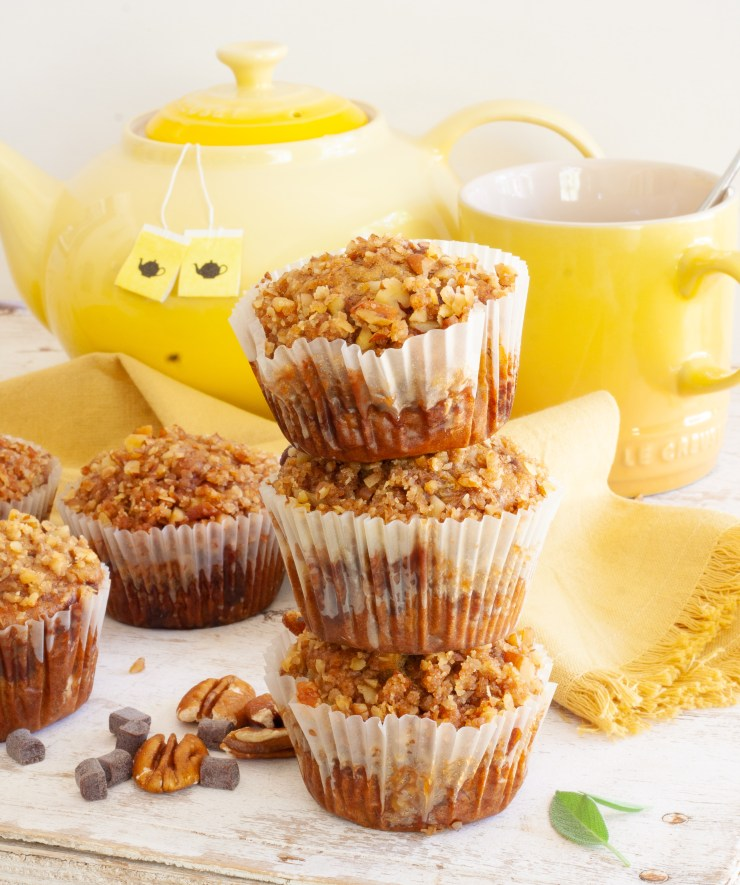 Pecan and banana muffins