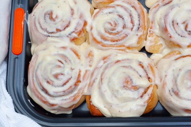 Easy, delicious homemade cinnamon rolls.