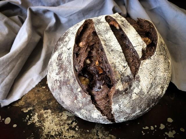 Chocolate sourdough bread.