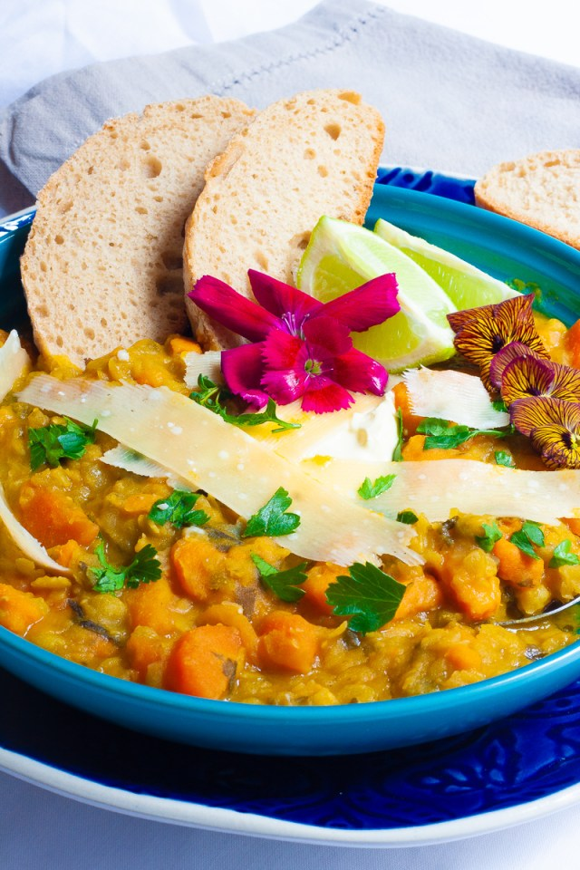 sweet potato and split-pea soup.