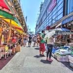 【HDR写真】今年は猛暑!強烈な日差しがまぶしい上野・アメ横商店街。