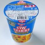 【カップ麺】タイ日清「カップヌードル ムーマナオ味」柑橘系の香り漂う酸味のある辛いスープがクセになりそう。