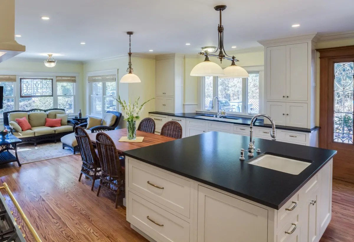 kitchen island with prep sink lowes backsplash for two sinks an eating area and sitting room nott associates
