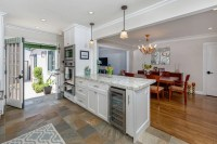 Kitchen peninsula with ovens and wine cooler. - Nott ...