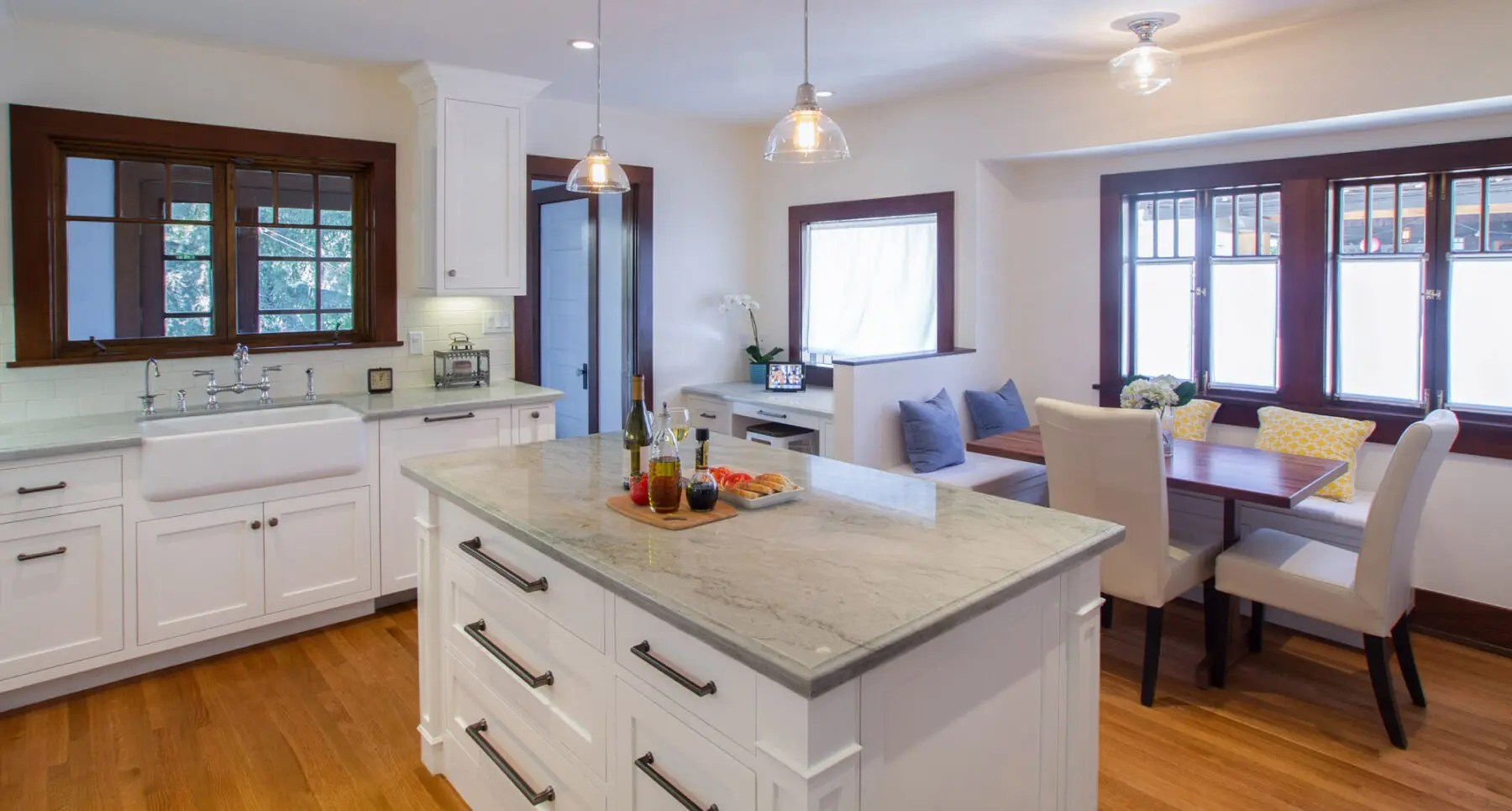 This 1910 Craftsman Kitchen Remodel In White And Period