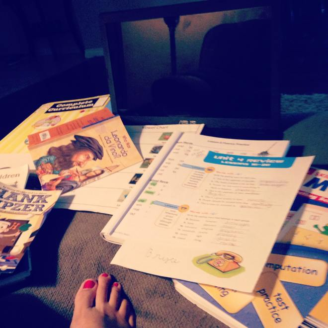 Because usually home school is more like couch school. #OneDayHH